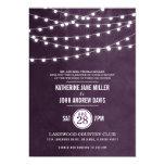Summer String Lights Wedding Invitation 13 Cm X 18 Cm Invitation Card