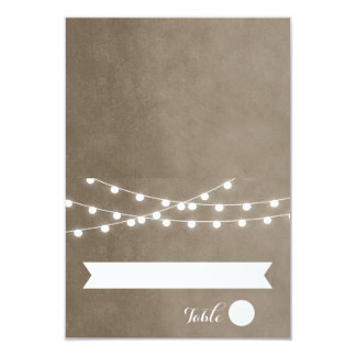 Summer String Lights Wedding Place Cards