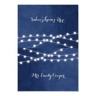 "Summer String Lights Wedding Place Cards 3.5"" X 5"" Invitation Card"