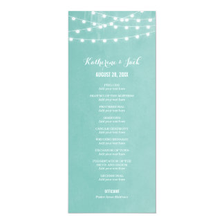 Summer String Lights Wedding Program