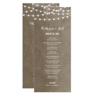 Summer String Lights Wedding Program