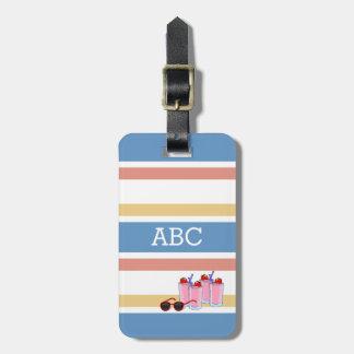 Summer Stripes custom luggage tag