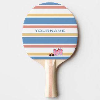 Summer Stripes custom ping pong paddle