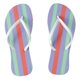 Summer stripes flip flops