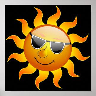 Summer Sun funny Poster