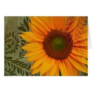 Summer Sun II greeting card, sunflower gardening Greeting Card