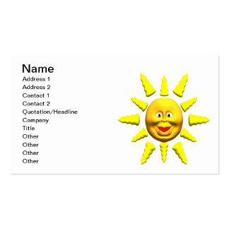 Summer Sun Pack Of Standard Business Cards