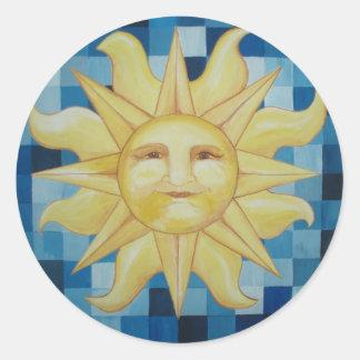 Summer Sun Round Sticker
