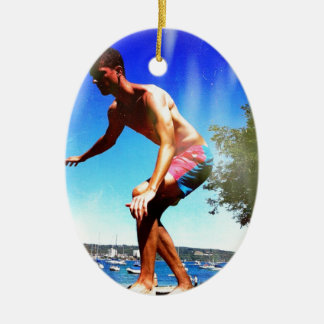 Summer Sun Slacklining Christmas Ornament