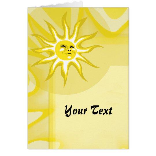 Summer Sun, Sunny Sunshine Custom Greeting Card