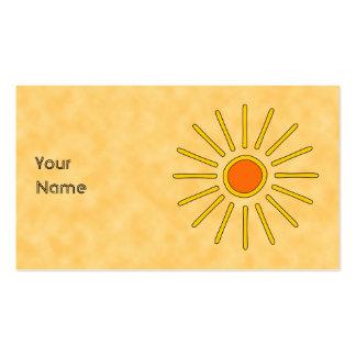 Summer sun Warm yellow colors Business Card Template