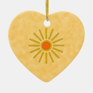 Summer sun. Warm yellow colors. Christmas Ornament