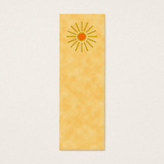Summer sun. Warm yellow colors. Mini Business Card