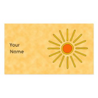Summer sun. Warm yellow colors. Pack Of Standard Business Cards
