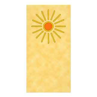Summer sun Warm yellow colors Personalized Photo Card