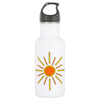 Summer sun. Yellow and orange. 532 Ml Water Bottle