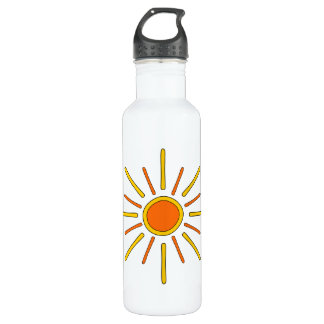 Summer sun. Yellow and orange. 710 Ml Water Bottle