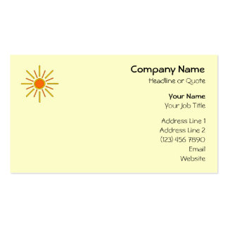 Summer sun. Yellow and orange. Double-Sided Standard Business Cards (Pack Of 100)