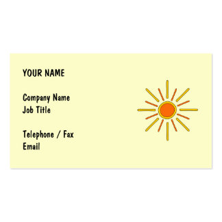 Summer sun Yellow and orange Business Cards