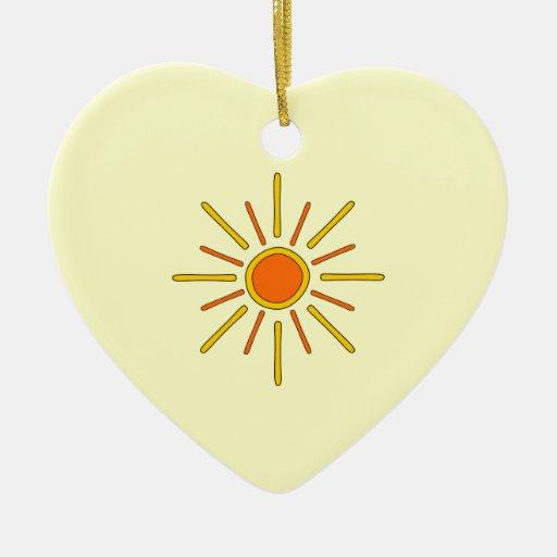 Summer sun. Yellow and orange. Ornaments