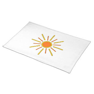 Summer sun. Yellow and orange. Placemat
