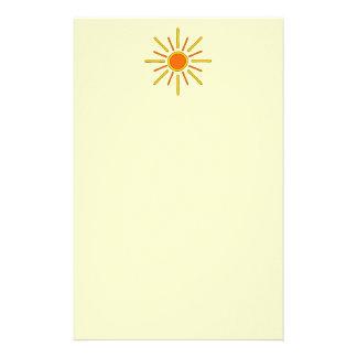 Summer sun. Yellow and orange. Stationery