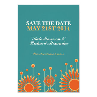 Summer Sunflower Floral Save The Date Card