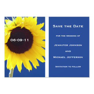 Summer Sunflower Save the Date Invitation