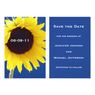 Summer Sunflower Save the Date Invitation Card