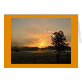 Summer Sunrise North Georgia Card
