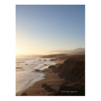 Summer sunset along california highway 1 along postcard