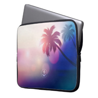 Summer Sunset Beach Laptop Sleeve