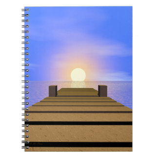 Summer Sunset Dock Spiral Notebook