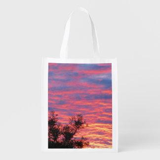 Summer Sunset Reusable Grocery Bag