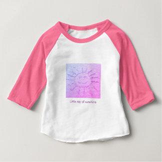 Summer sunshine, smiley face drawing sandy beach baby T-Shirt