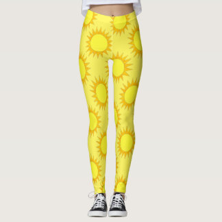 Summer Sunshine Yellow Sun Suns Sunny Day Leggings