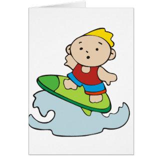 Summer Surfer Boy Greeting Cards