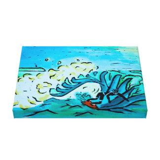 Summer Surfer Canvas Print