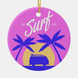 Summer Surfer custom text ornament