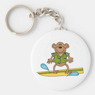 Summer Surfer Monkey Keychain