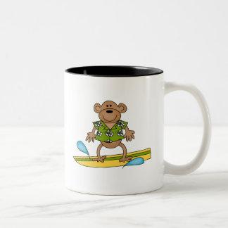 Summer Surfer Monkey Coffee Mug