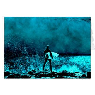 Summer Surfing Grunge Style Greeting Card