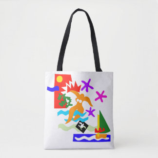 Summer swimmer -All-Over-Print Tote Bag