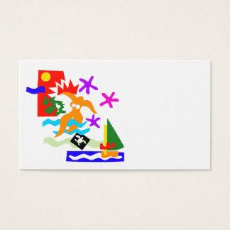 Summer swimmer - Business card
