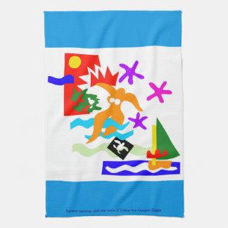 Summer swimmer - kitchen towel