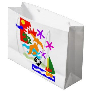 Summer swimmer - Large glossy gift bag