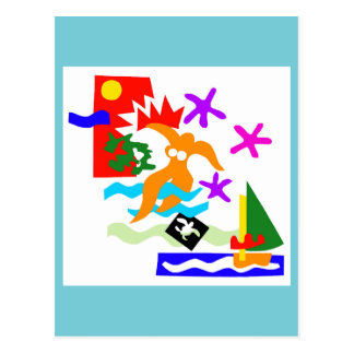Summer swimmer - Postcard