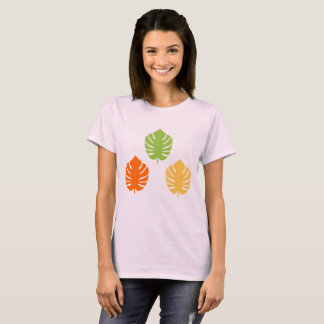 Summer t-shirt with Exotic leaves