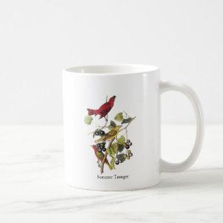 Summer Tanager by John Audubon Basic White Mug