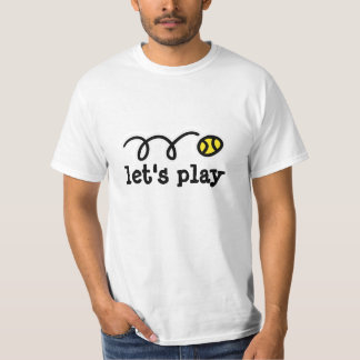 Summer tennis t shirt with cute quote | let's play